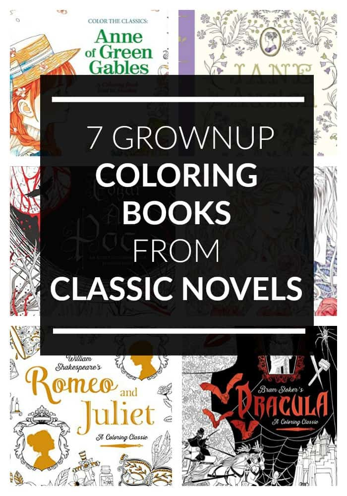 Coloring books are for grownups too, especially these books from classic novels!  Check out these literary ideas for adults that are art!