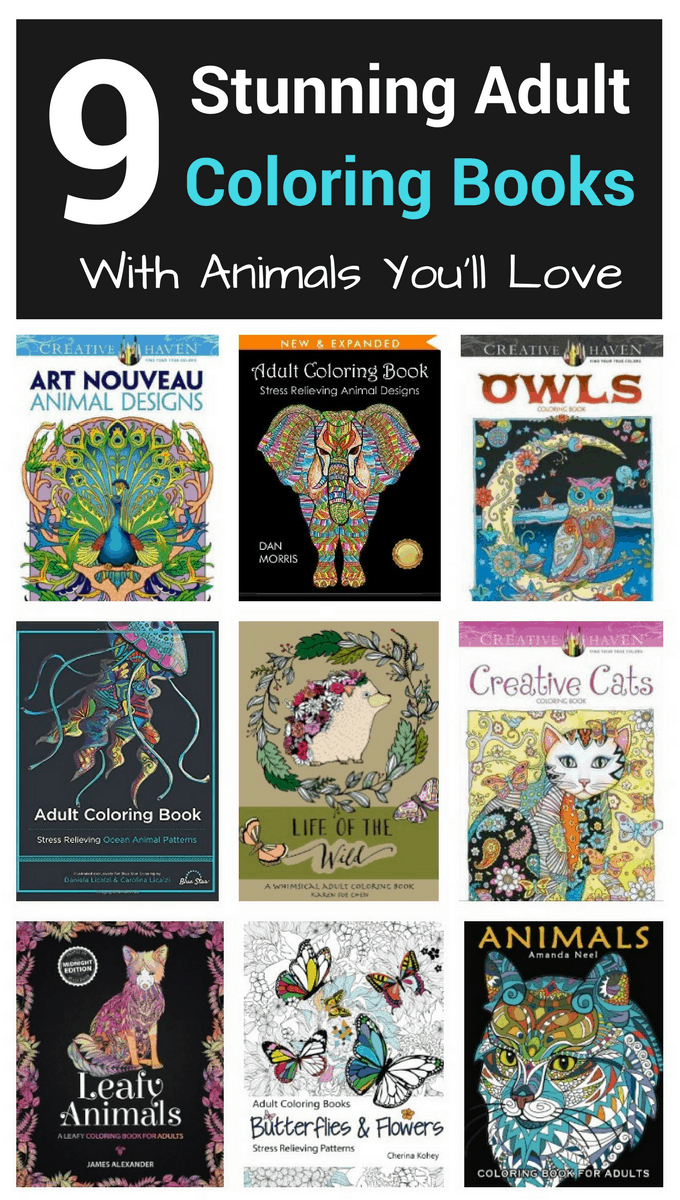 These adult coloring books with animals are a work of art!  You will love all of these ideas that will get your inspiration flowing, plus coloring these creative pages melt your stress away!