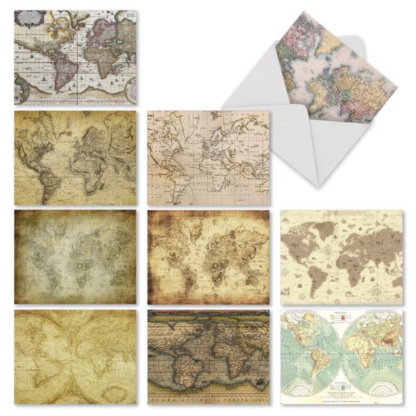 9 Gorgeous Stationery Sets That Will Make You Bring Back the Art of Letter Writing- Antique Maps Cards