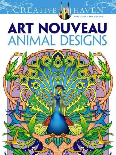 9 Stunning Adult Coloring Books With Animals You'll Love: Art Nouebeau Animal Designs