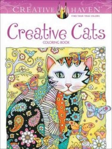9 Stunning Adult Coloring Books With Animals You'll Love: Creative Cats