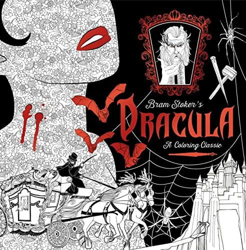 Dracula Coloring Book 7 Amazing Coloring Books For Grown Ups Based On Classic Novels