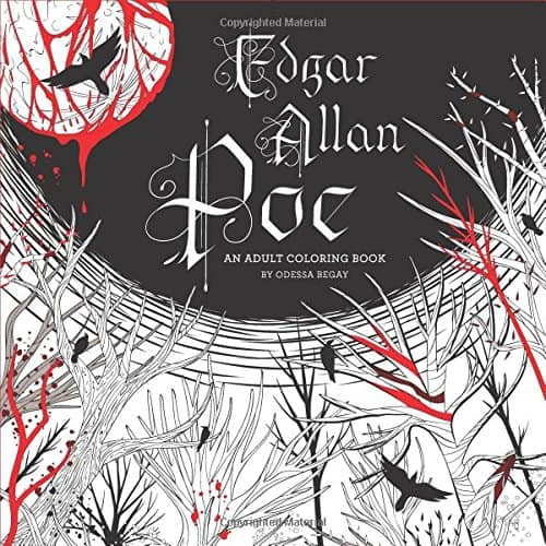 Edgar Allen Poe Coloring Book 7 Amazing Coloring Books For Grown Ups Based On Classic Novels