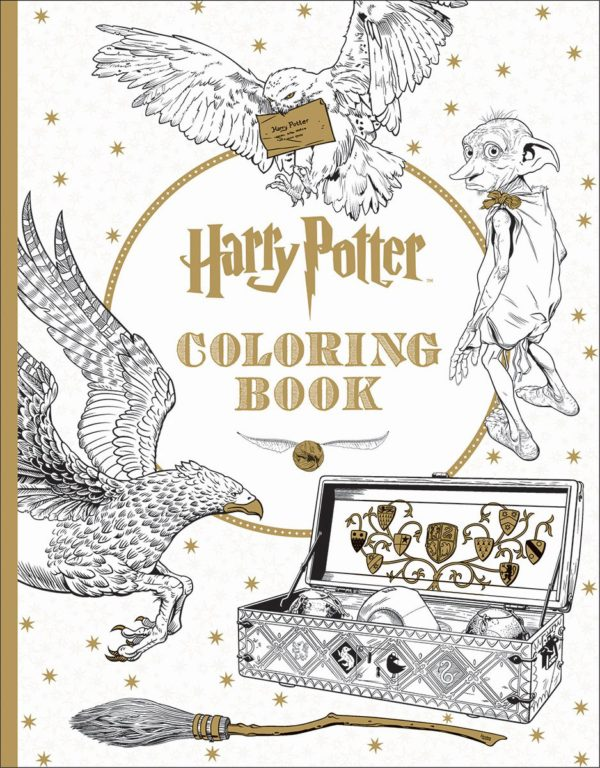7 Amazingly Creative Adult Coloring Books Based On Young Adult Novels- harry Potter Coloring Book