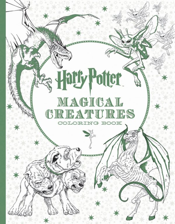 7 Amazingly Creative Adult Coloring Books Based On Young Adult Novels- HArry Potter Magical Creatures