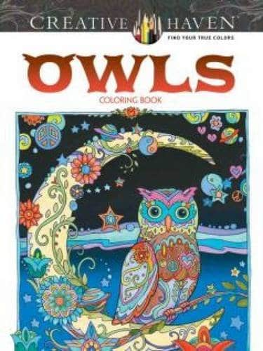 9 Stunning Adult Coloring Books With Animals You'll Love: Owls
