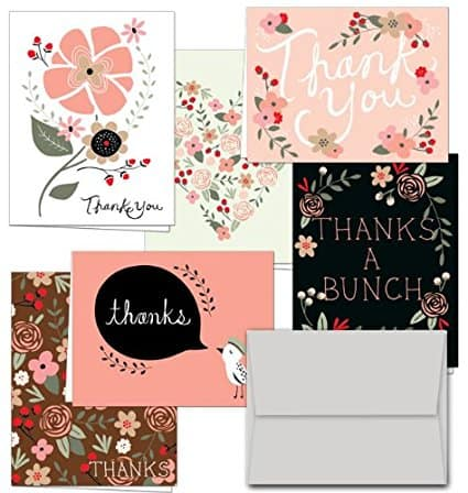 9 Gorgeous Stationery Sets That Will Make You Bring Back the Art of Letter Writing- Pink Flower Thank You Cards