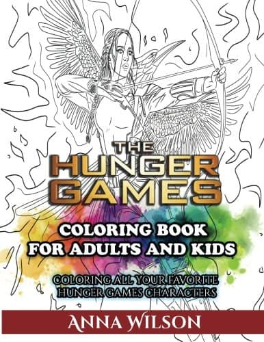 7 Amazingly Creative Adult Coloring Books Based On Young Adult Novels- The Hunger Games Coloring Book
