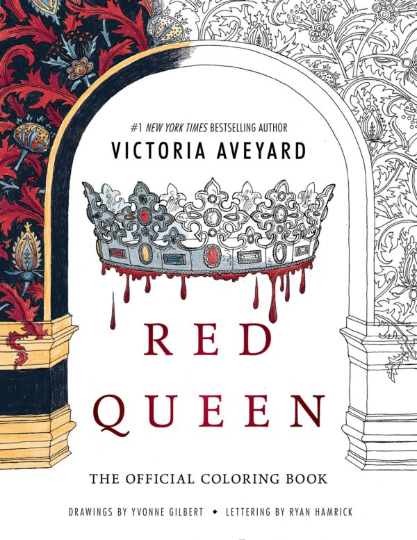 7 Amazingly Creative Adult Coloring Books Based On Young Adult Novels- Red Queen