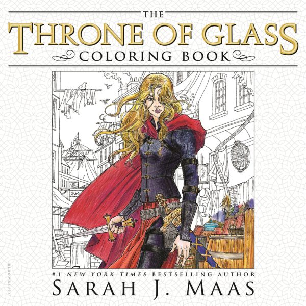 7 Amazingly Creative Adult Coloring Books Based On Young Adult Novels- The Throne Of Glass Coloring Book