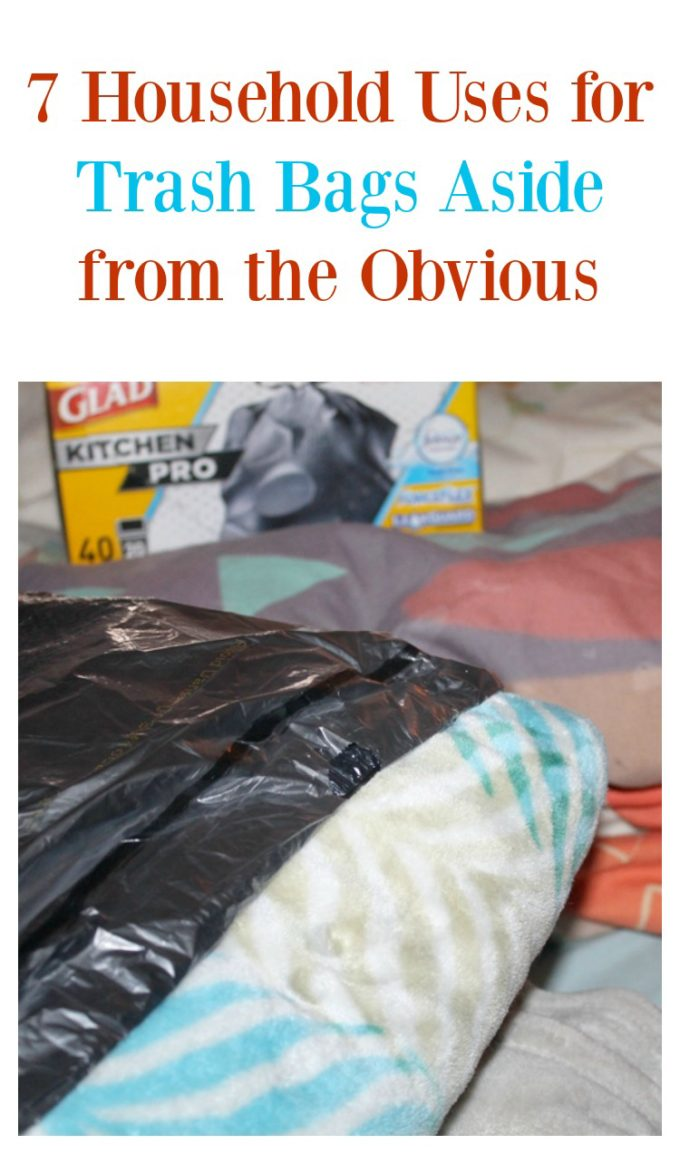 Save time and money on your spring cleaning & organizing with these 7 fabulous household uses for trash bags (aside from the obvious!)