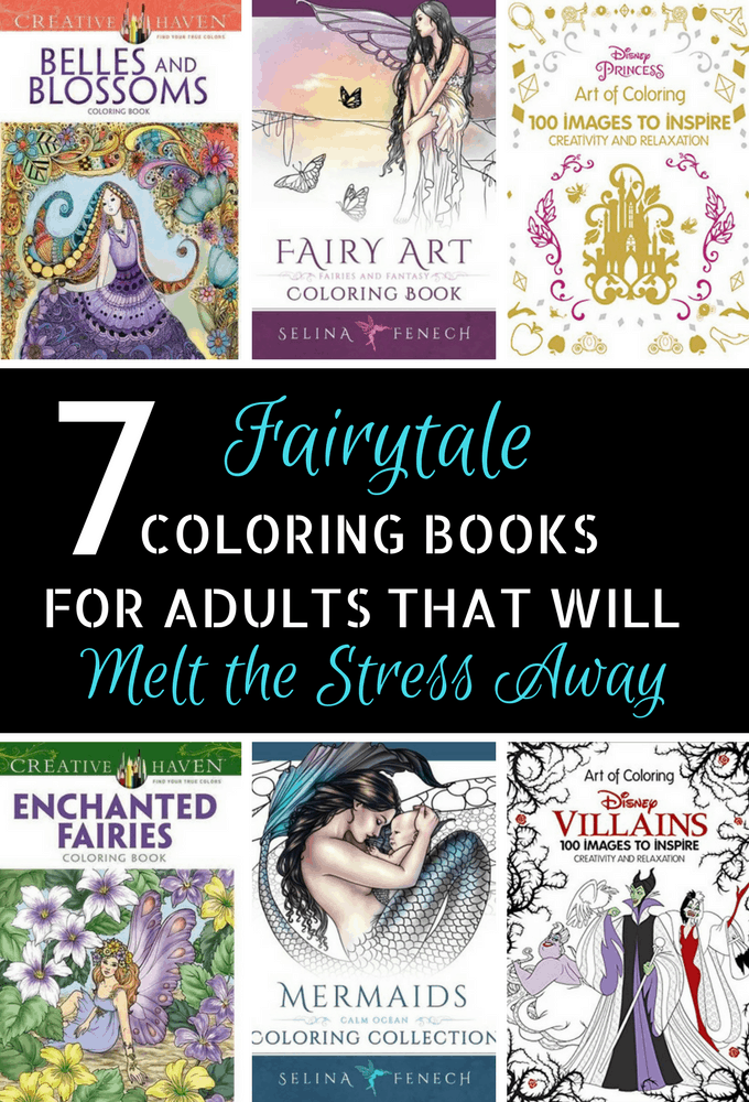 Looking for coloring books for adults to melt your stress away? These gorgeous fairytale inspired books are just what you need to unwind! These pages are full of inspiration!