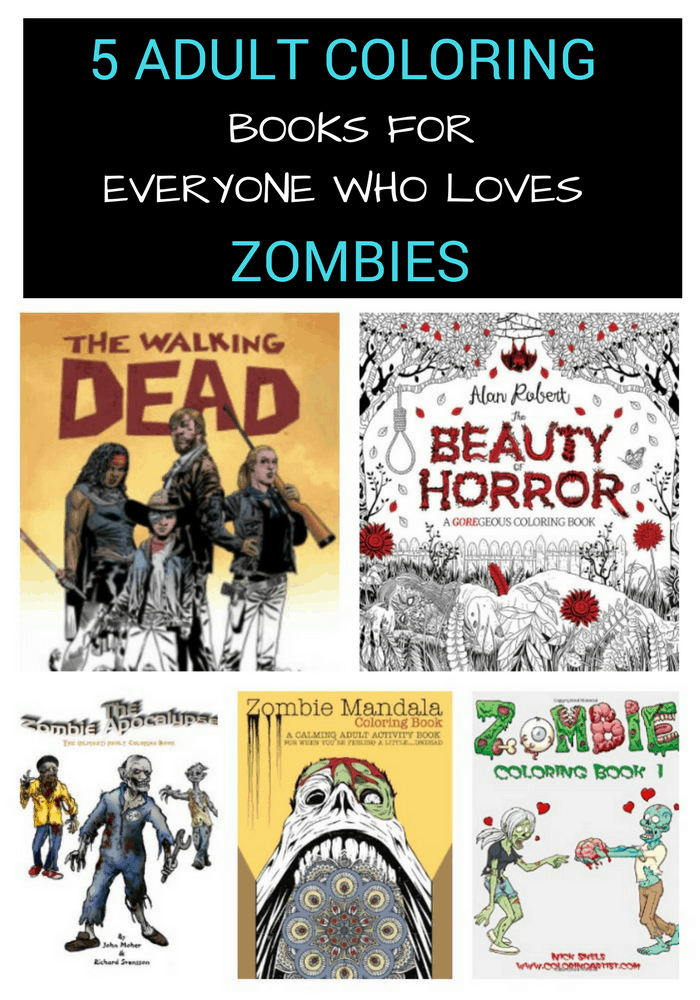 Need some new inspiration for your adult coloring books? If you like funny and awesome ways to relieve stress, then these zombie coloring pages are exactly what you need!