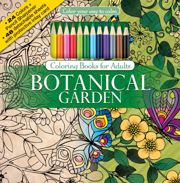7 Stunning Adult Coloring Books Full Of Enchanted Gardens And Flowers: Botanical Garden
