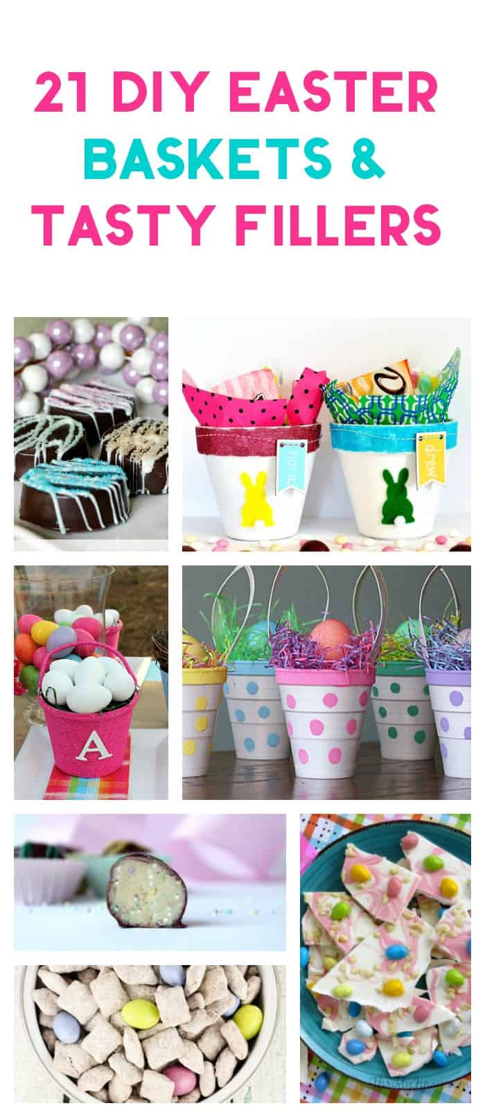 21 DIY Easter Baskets & Tasty Fillers: Save money on Easter with these clever basket ideas & tasty treats to put in them!