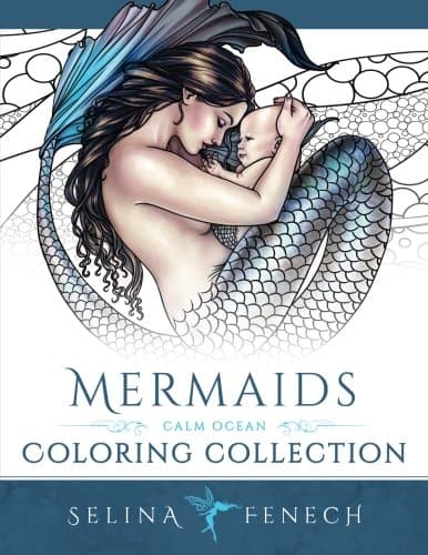 7 Fairytale Coloring Books For Adults That Will Melt Stress Away- Mermaids