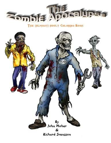 5 Adult Coloring Book Ideas For Everyone Who Loves Zombies: teh Zombie Apocalypse