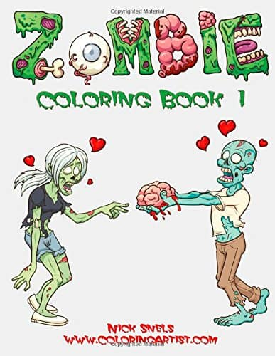 5 Adult Coloring Book Ideas For Everyone Who Loves Zombies: Zombie Coloring Book 1