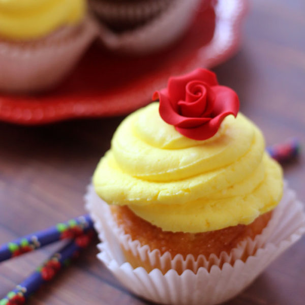 9 Enchanting Beauty And The Beast Inspired Food You Really Can Make- Belle Cupcakes