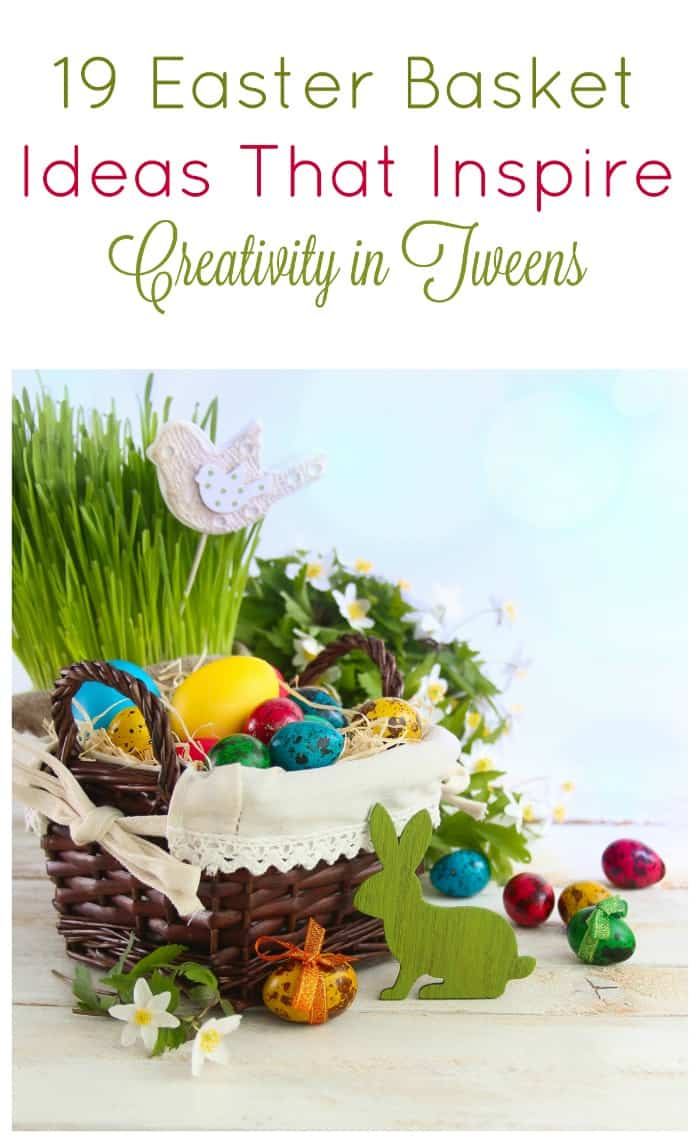 Give Easter gifts that inspire creativity with these 19 ideas of imagination-boosters to put in your tween\'s basket!