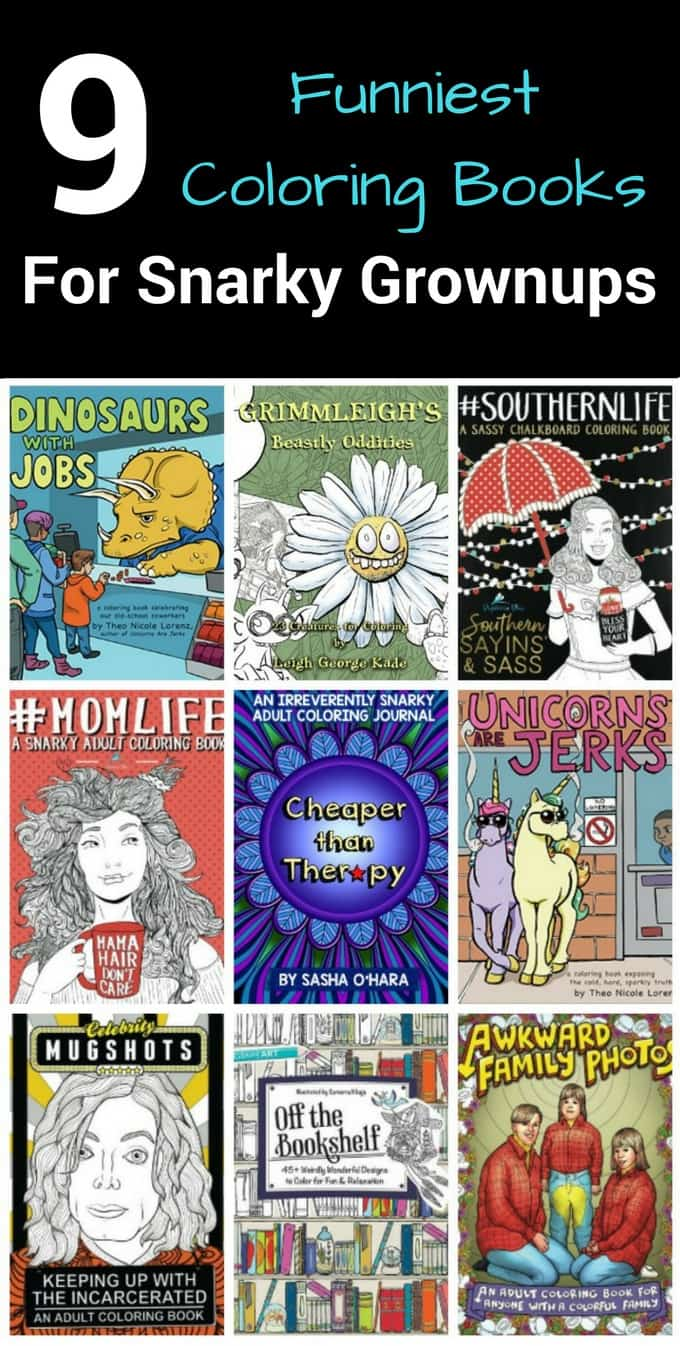 Funny coloring books for grownups don't come around every day! Check out these hilarious ideas featuring adult coloring books perfect for gifts, as a stress reliever and fun! these snarky books will make you laugh!