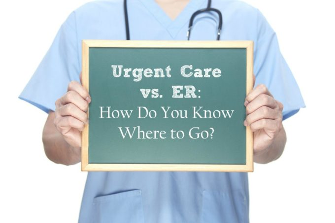Urgent care or ER? Save time and money by knowing which one to go to!