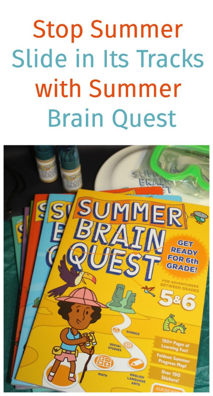Stop summer slide in its tracks with help from SUMMER BRAIN QUEST! Kids will actually love learning over break! Check them out!