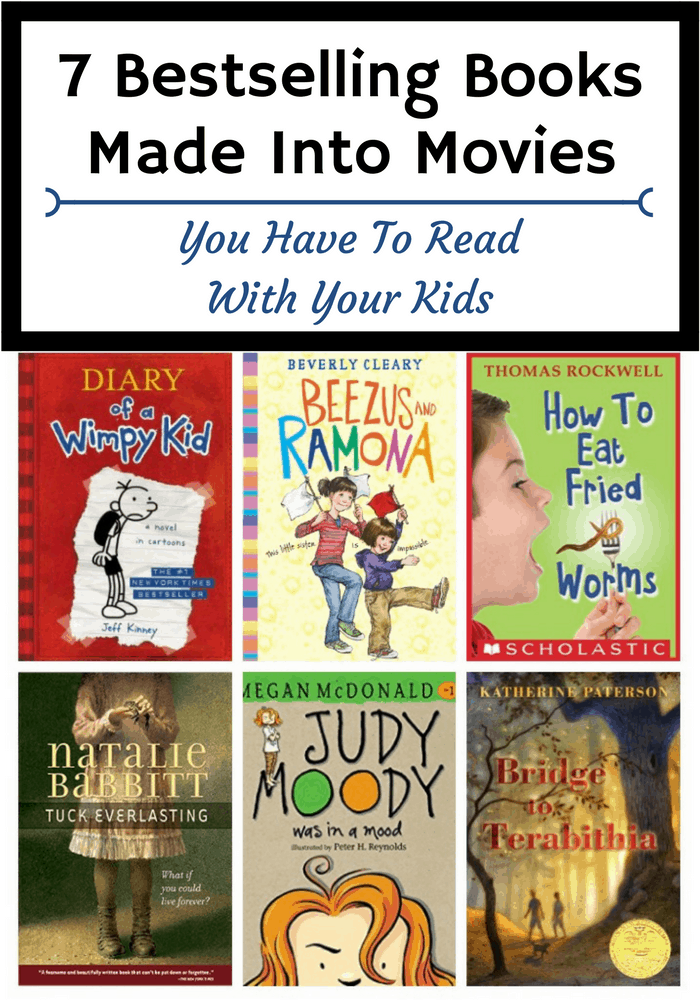 Looking for some books made into movies to read alongside your kids? Add these books to your summer reading list, then watch the movie together s a family!