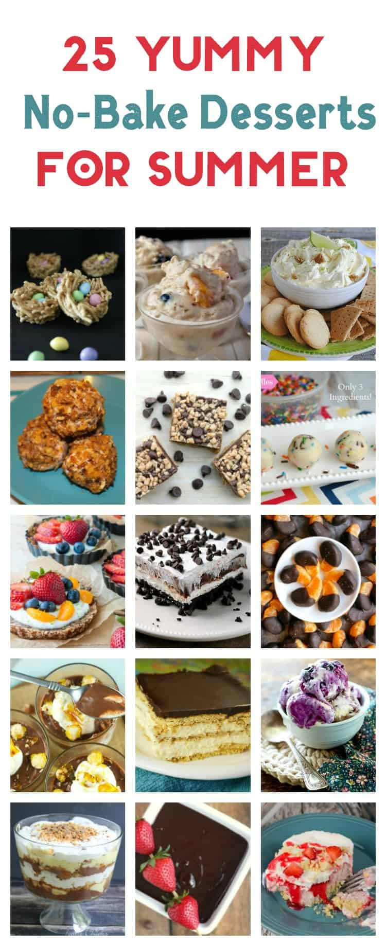25 no-bake desserts that are so yummy, you'll never miss your oven! They make perfect summer party food ideas!