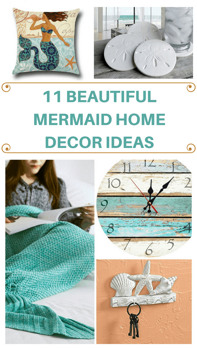 Add a touch of mermaid home decor to your home and watch if sparkle with these fun ideas and inspiration. So grab your fish scales and turn your whole home into a beach house you'll love!