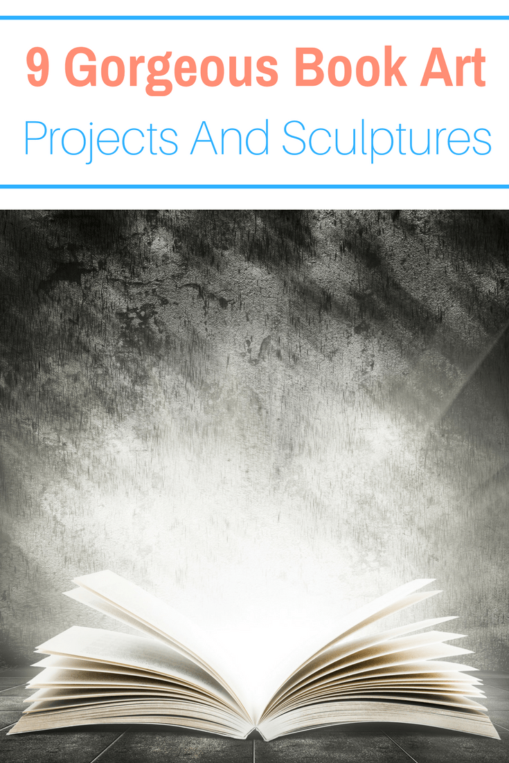 Book lovers you have to see these gorgeous book art projects full of sculptures, paper art and all kinds of project ideas you will love!