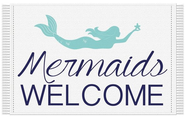 11 Beautiful Mermaid Home Decor Ideas- Mermaid Rug Welcome Mat