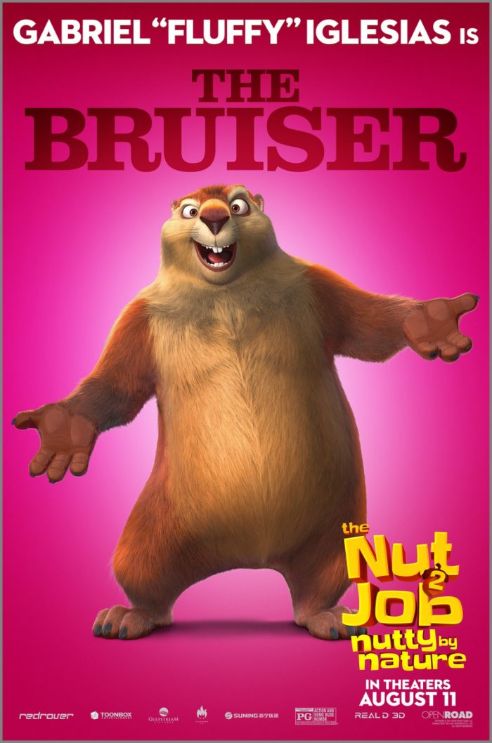 NJ2 JIMMY BRUISER FIN 1 8 Awesome New The Nut Job 2: Nutty By Nature Character Posters