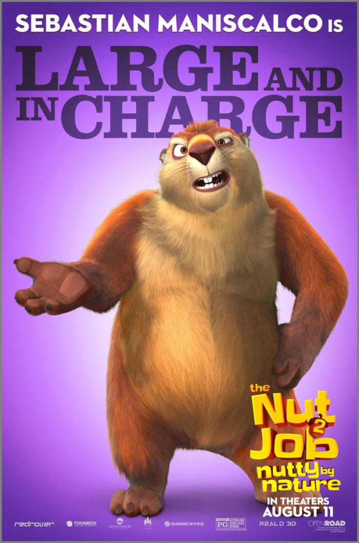 NJ2 Johnny LARGE FIN 1 8 Awesome New The Nut Job 2: Nutty By Nature Character Posters