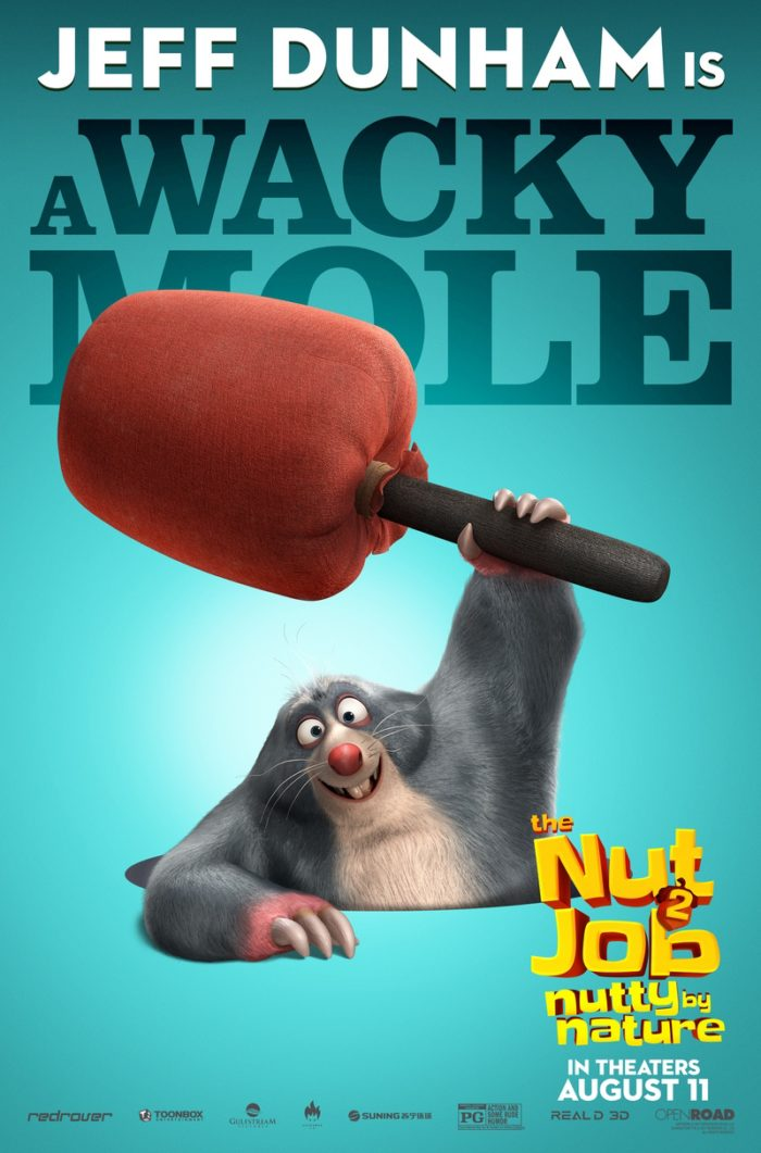 NJ2 MOLE FIN 1 8 Awesome New The Nut Job 2: Nutty By Nature Character Posters