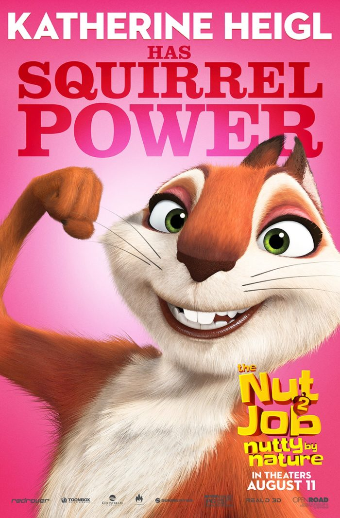NJ2 SQUIRREL WIP 5 8 Awesome New The Nut Job 2: Nutty By Nature Character Posters