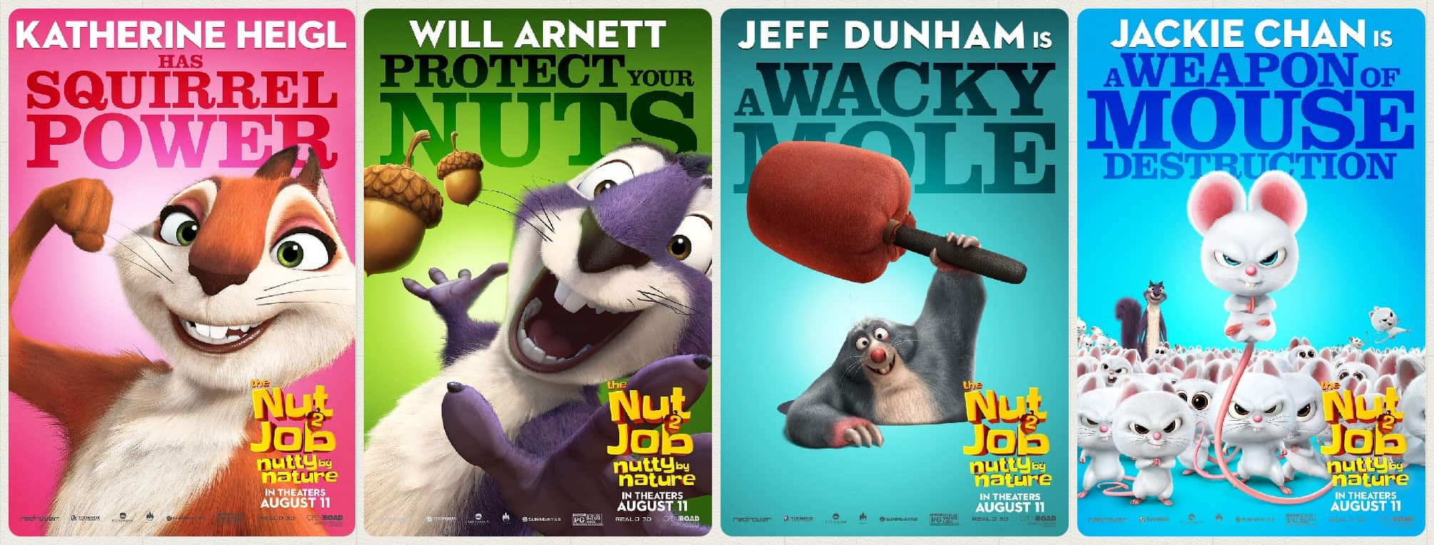 8 Awesome New The Nut Job 2: Nutty By Nature Character Posters