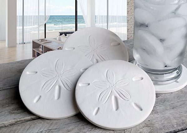 11 Beautiful Mermaid Home Decor Ideas- Sand Dollar Coasters