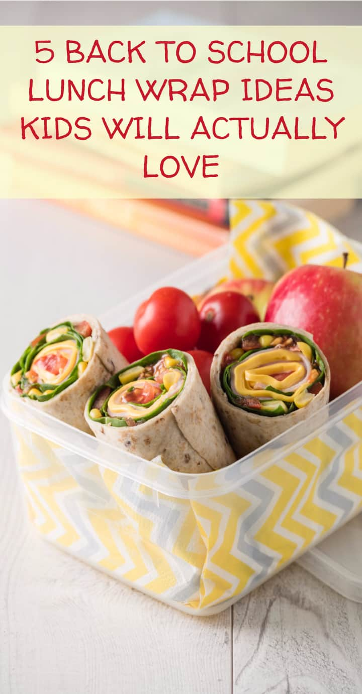 Want to make your kids a lunch that's delicious and that they'll actually want to eat, but don't want to go with another boring sandwich? A wrap is a fabulous alternative! Check out five ideas that kids will love!