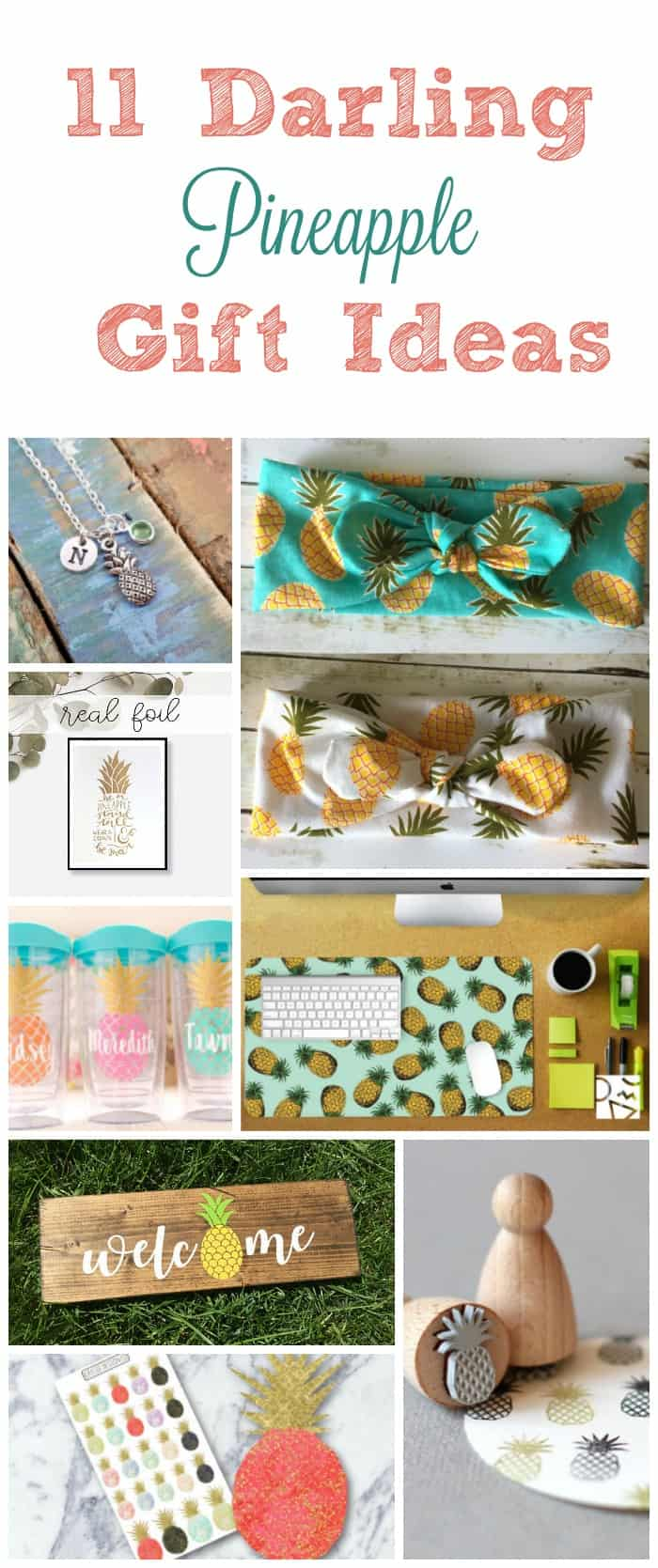 Love pineapples? Like REALLY love them? Why not show off your adoration with some of these insanely cute pineapple gift ideas on Etsy?