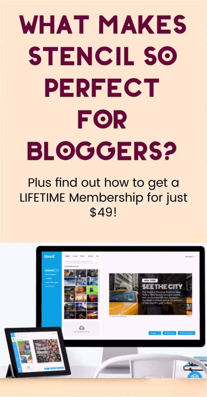 Looking for the best graphics design program for bloggers? Grab a lifetime unlimited subscription to Stencil for just $49! See how and find out why it\'s so AMAZING!