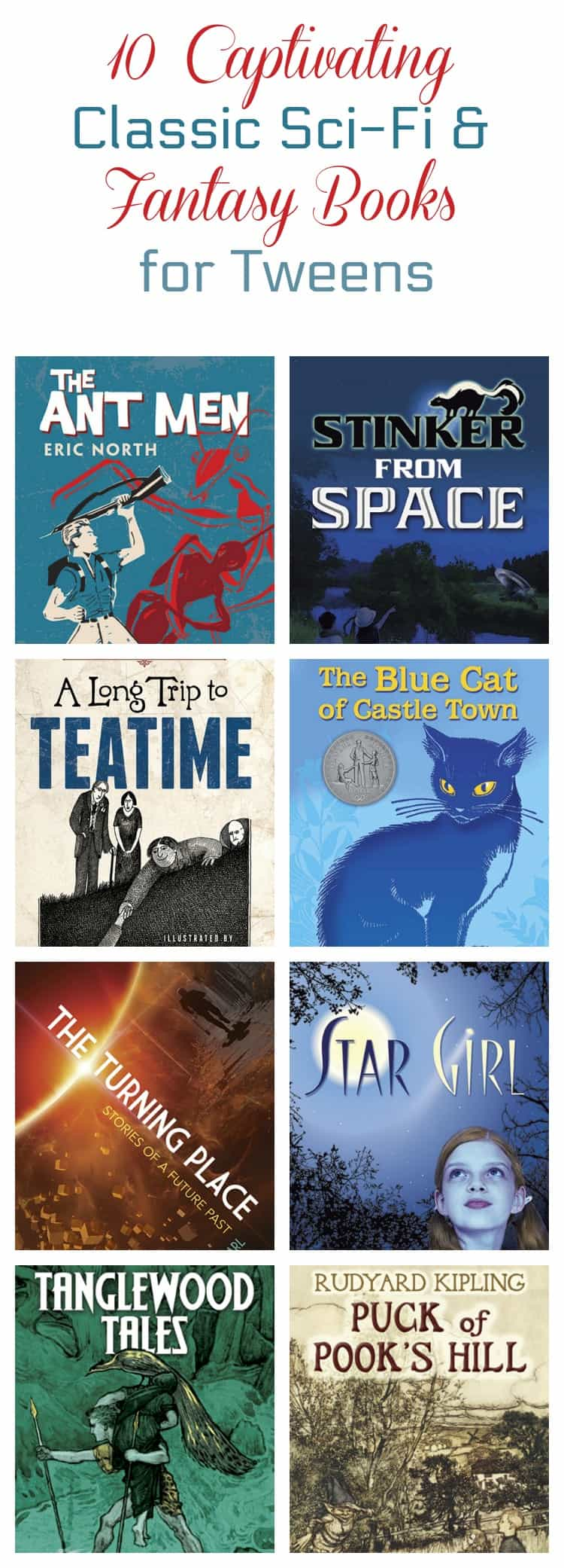 Want to introduce your middle-grade tweens to classic literature? Start with these 10 captivating science fiction and fantasy books from Dover!