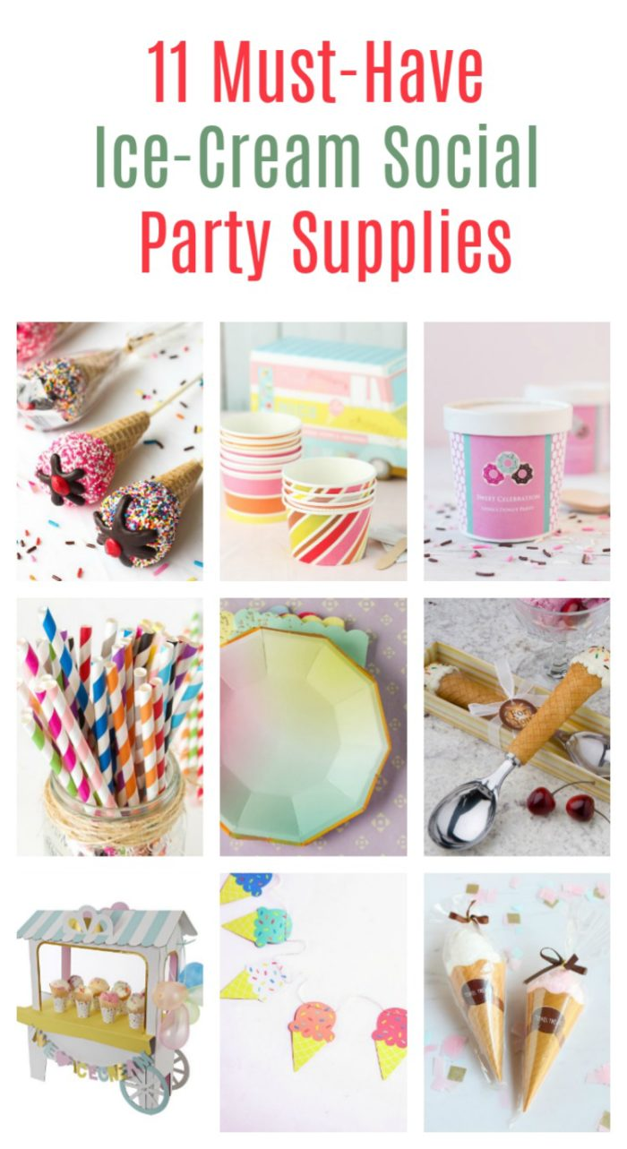 Throw the Ice-Cream Social of the season with these 11 must-have party supplies that take your bash to whole new levels!