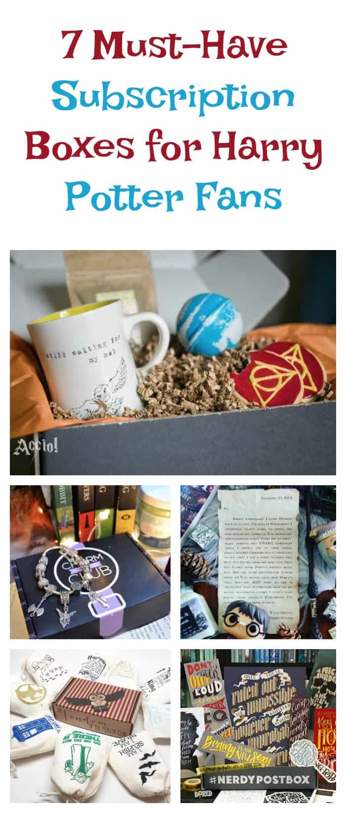 Need the perfect gift idea for the Harry Potter fan in your life? Check out these 7 perfect subscription boxes! I want them all!