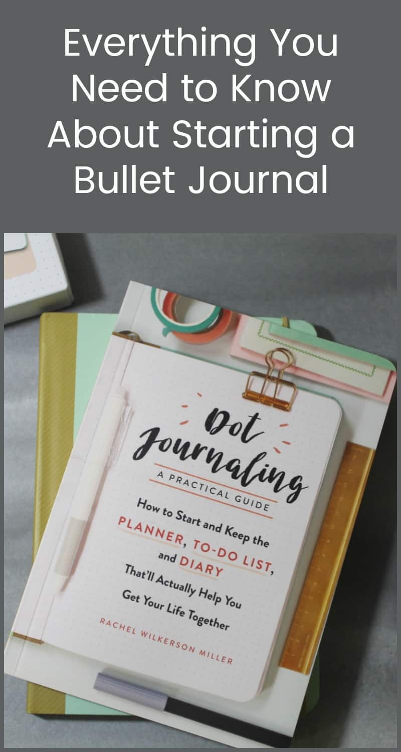 Learn how to start the perfect bullet journal & get your life organized the fun way with Rachel Wilkerson Miller's Dot Journaling: The Set