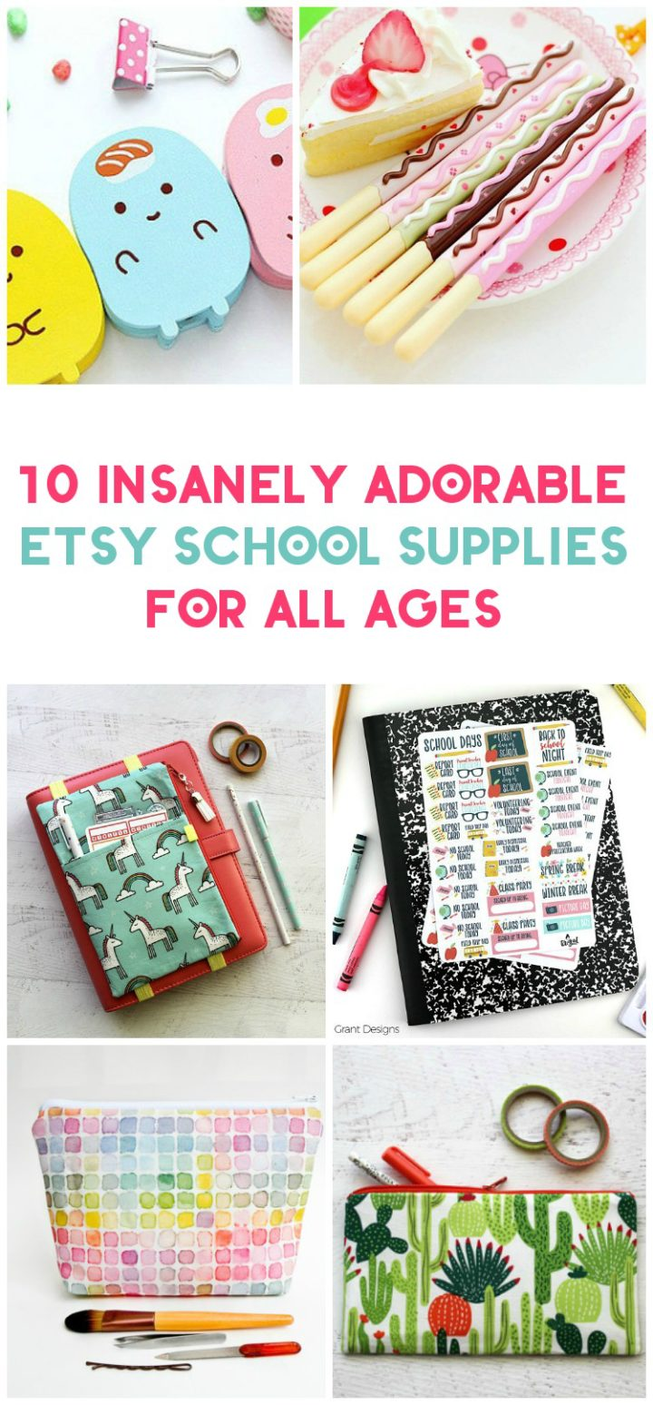 Make going back to school a little more exciting with these adorable and unique back to school supplies from Etsy! Check them out!