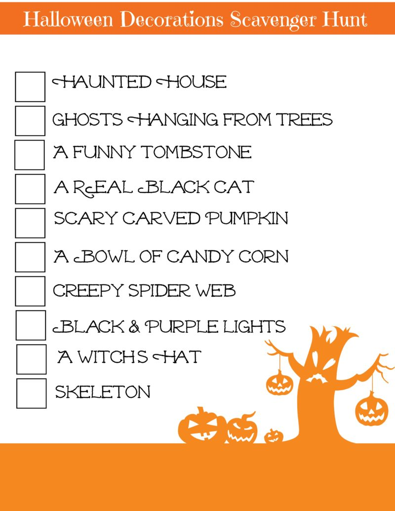 Your tweens don't have to dress up and trick or treat to join the crowds on the streets come Halloween night. Gather a few of their friends and send them off on a Halloween decorations scavenger hunt.