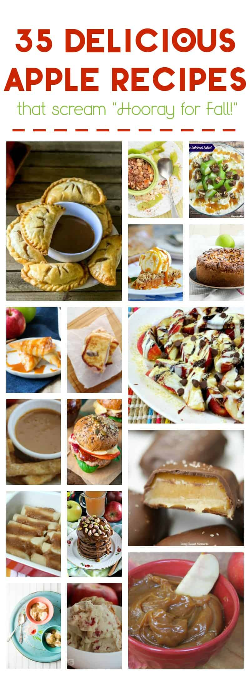Celebrate fall's harvest with 35 outstandingly delicious apple recipes! From breakfast to dessert (yep, even lunch and dinner), apples are where it's at!