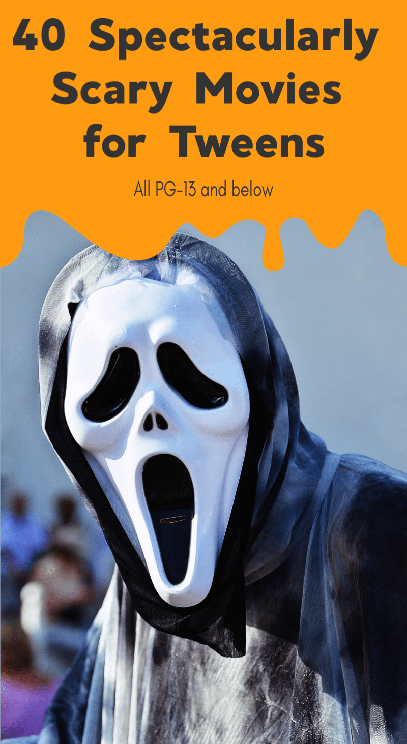 Need some ideas for a horror movie marathon that's appropriate for tweens and young teens? Check out these 40 magnificently scary movies rated PG-13 and below!