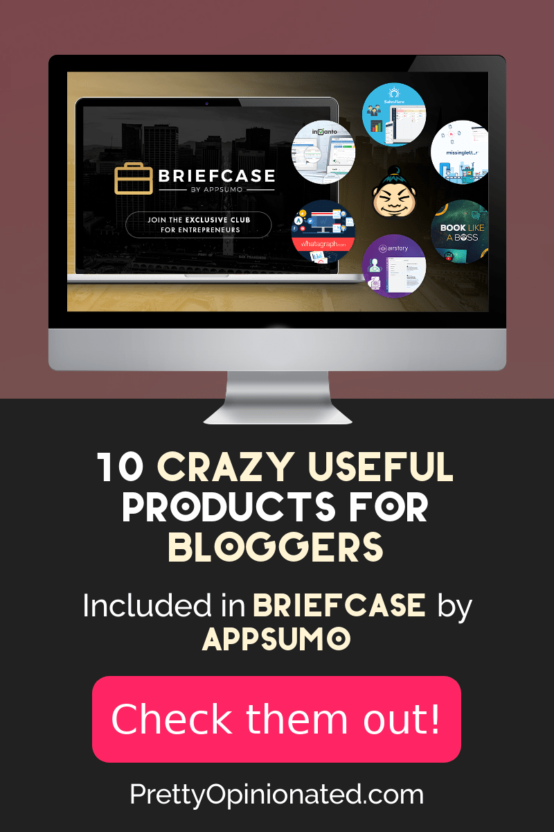Have you heard of AppSumo's latest ongoing deal? It's called Briefcase and it's crazy awesome. Bottom line: it rolls over $1,000/month worth of products into one neat little $49/month subscription. Check out 10 of my favorite included products that are great for bloggers!